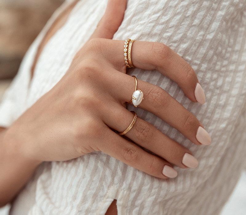Perlen Ringe