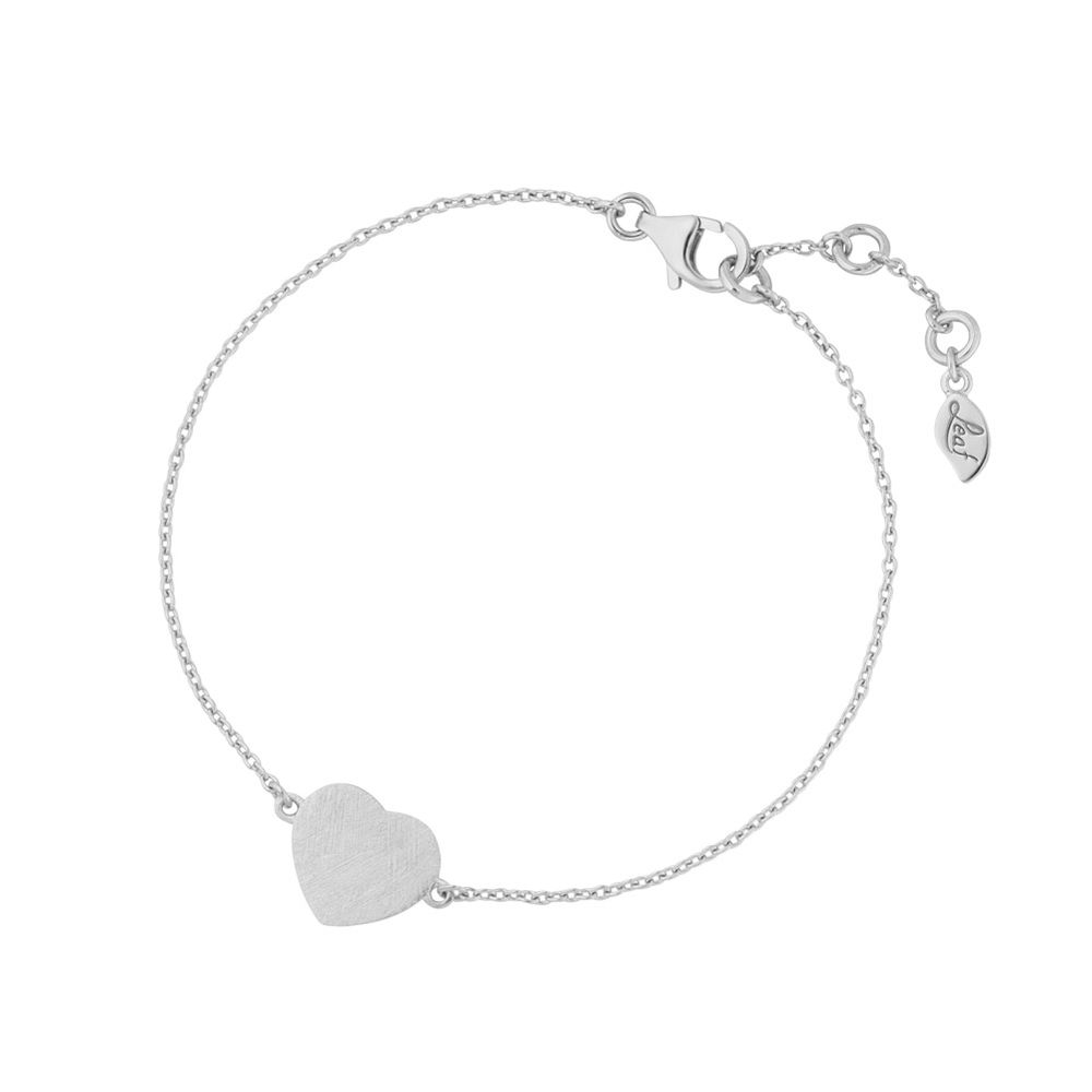 Armkette Heart-Disc, matt, 925 Sterlingsilber