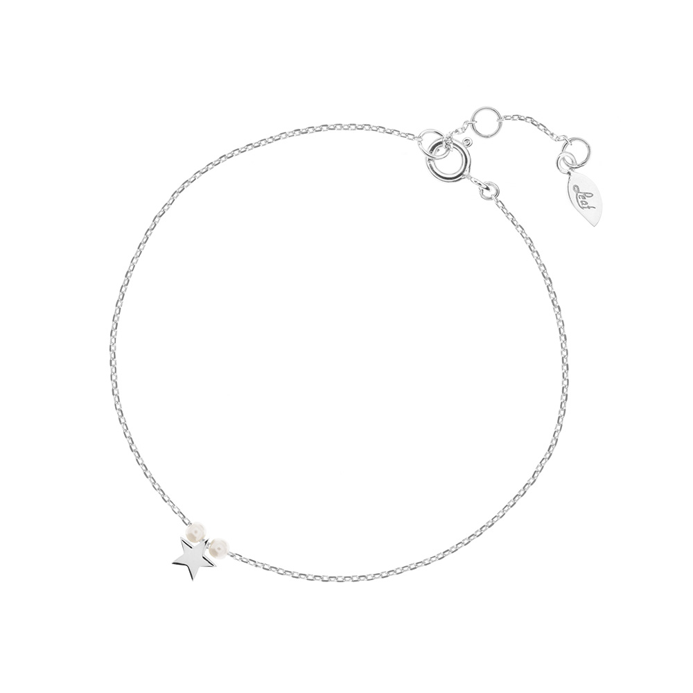Armkette  Armkette Stern mit Perle, 925 Sterlingsilber - Leaf - Schmuck ...