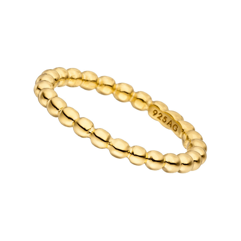 Ball-Ring, dick,18 K Gelbgold vergoldet