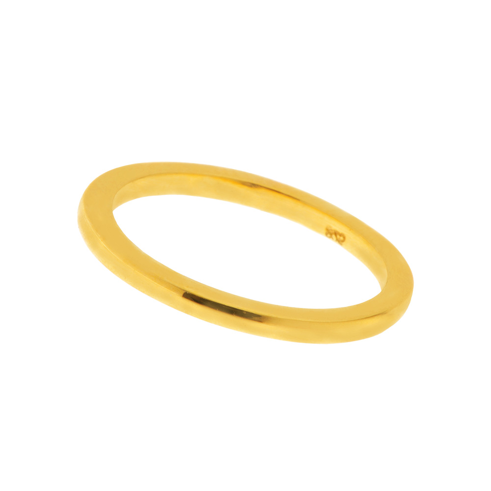 Basic Ring, 18 K Gelbgold vergoldet