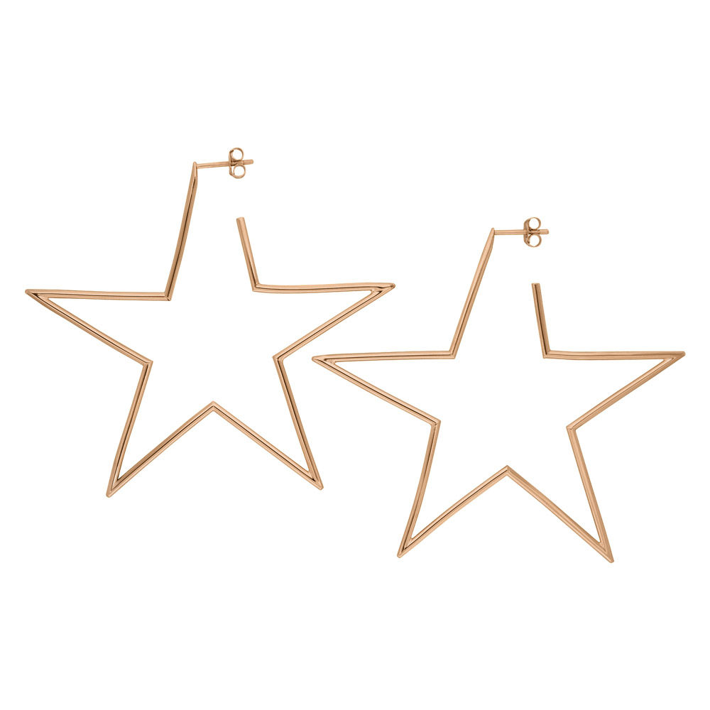 Creole STAR, 60mm, 18 K Rosegold vergoldet