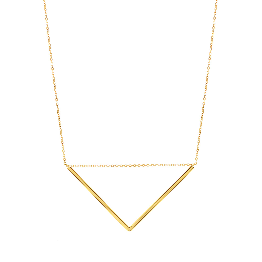 Halskette Big Triangle, 18 K Gelbgold vergoldet