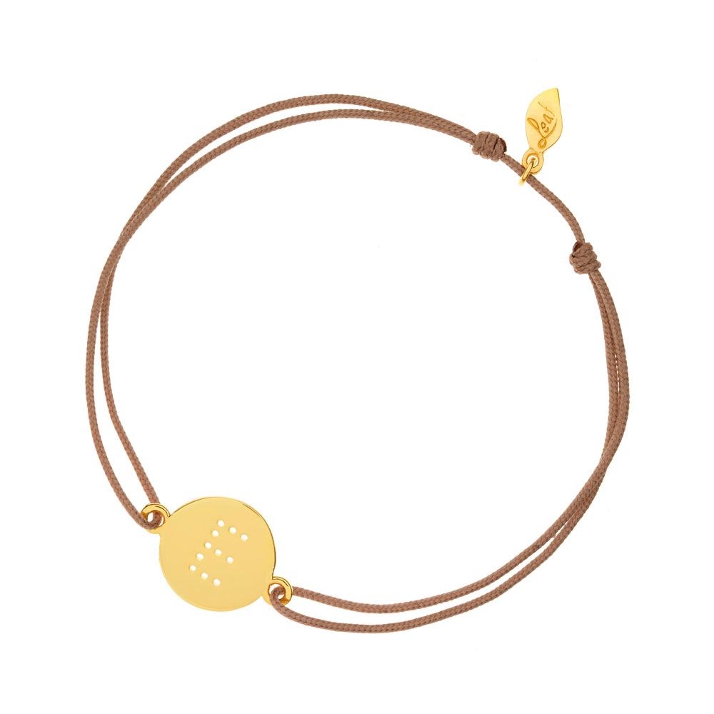... Buchstabe, Gelbgold vergoldet - Leaf - Schmuck & Accessoires