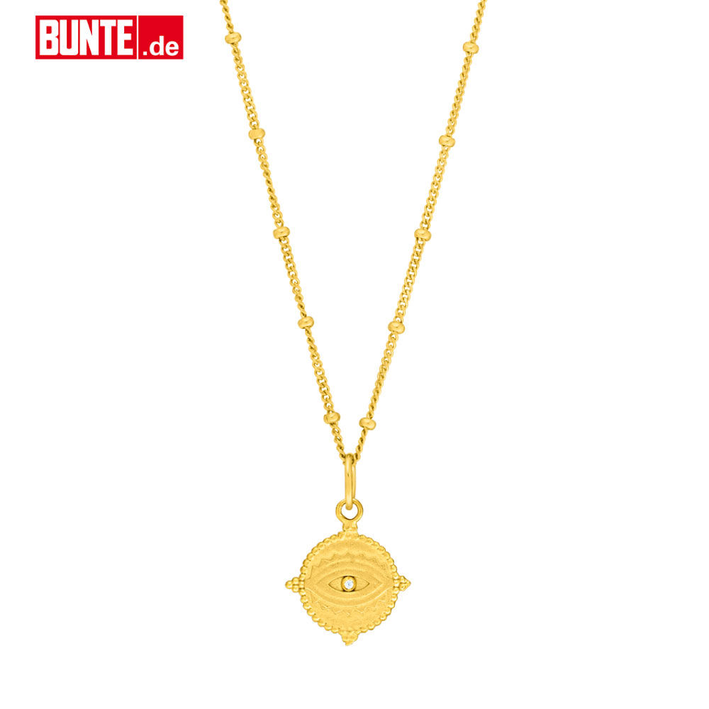Halskette Evil Eye, 18 K Gelbgold vergoldet, powered by BUNTE.de