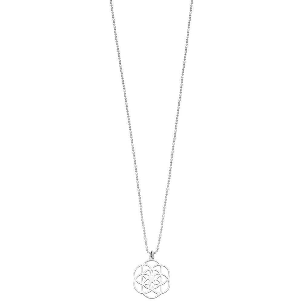 Halskette Flower of Life, 70cm, 925 Sterlingsilber