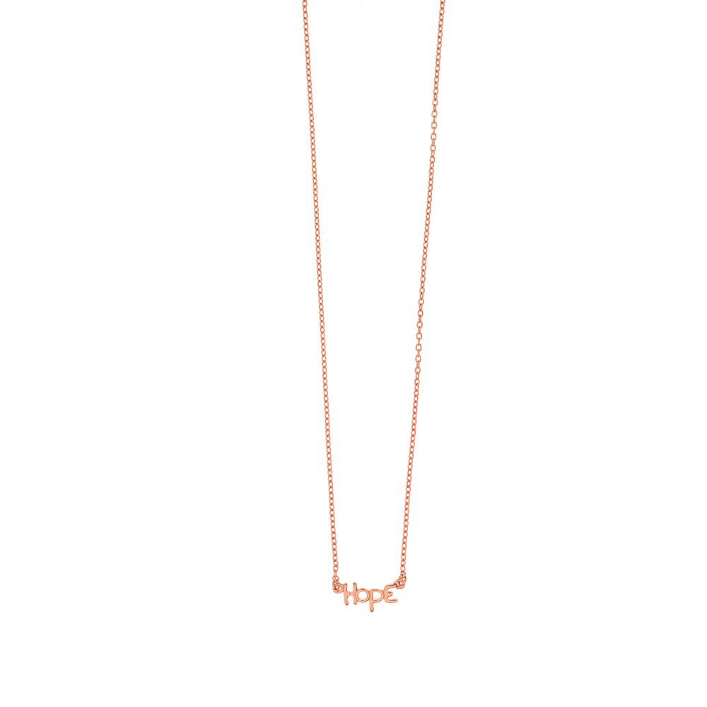 Halskette HOPE, mini, 18 K Rosegold vergoldet