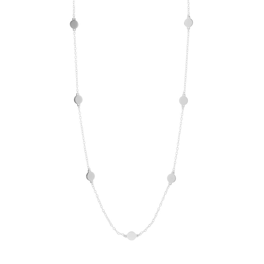 Halskette silber plattchen
