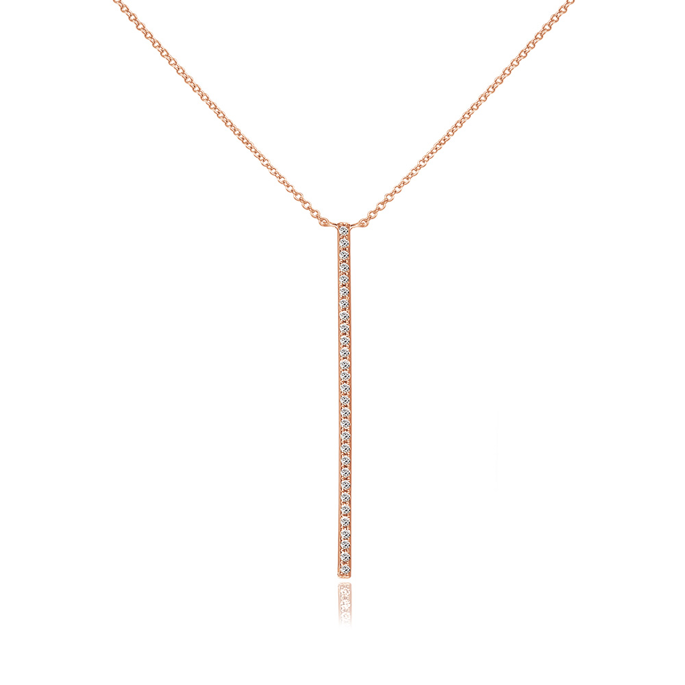 Halskette Bar Diamanten, 18 K Rosegold