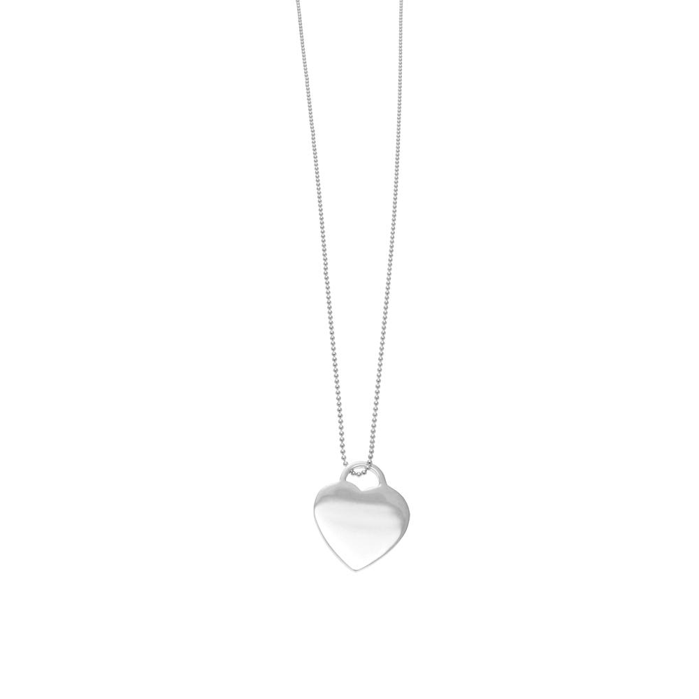 Halskette silber  Leaf Halskette Herz, lang, Silber - Leaf - Schmuck & Accessoires