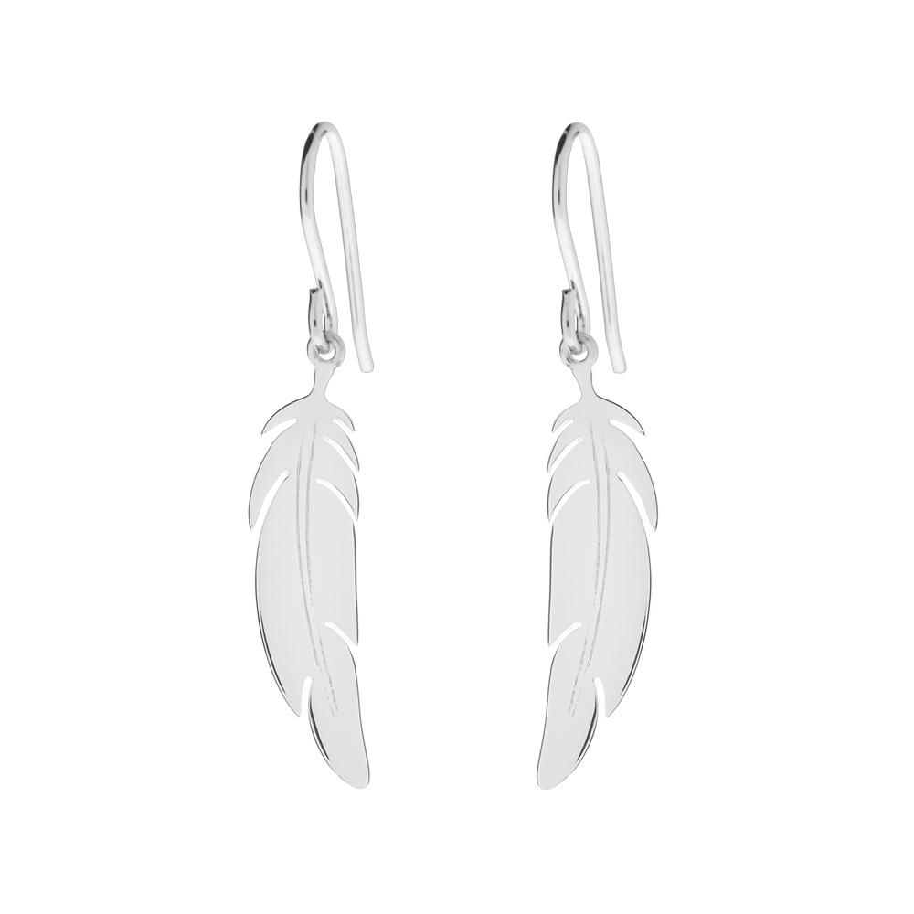 Ohrhänger  Ohrhänger Feder, 925 Sterlingsilber - Leaf - Schmuck & Accessoires