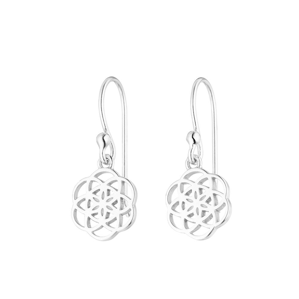 Ohrhänger Flower of Life, 925 Sterlingsilber