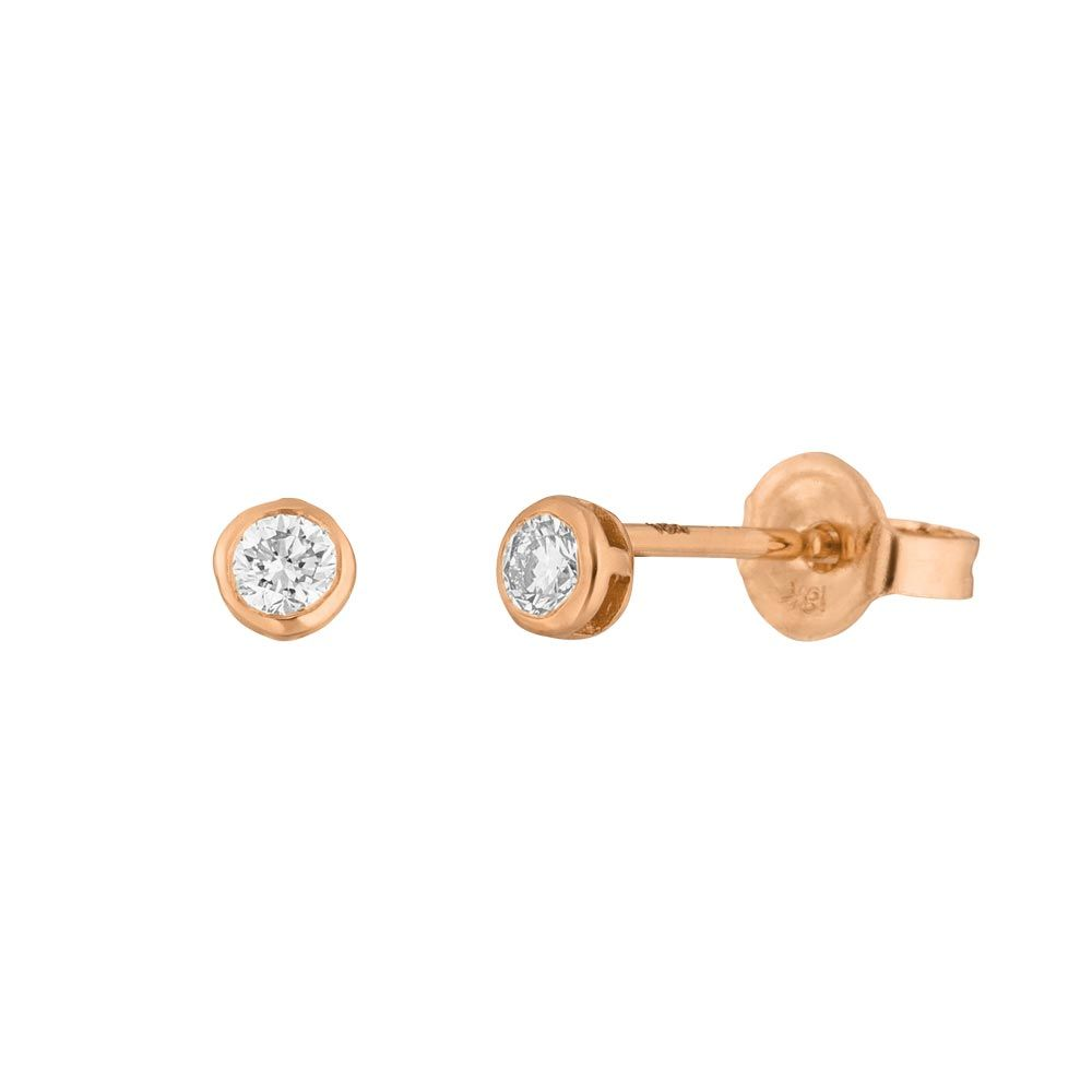 Ohrstecker my first diamond, 18 K Rosegold