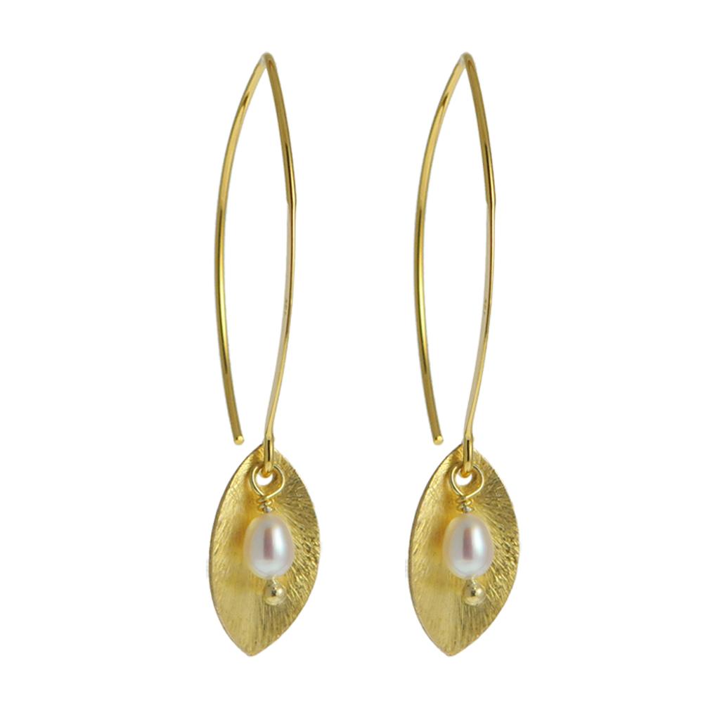 ... Blatt, Gelbgold vergoldet - Leaf - Schmuck & Accessoires