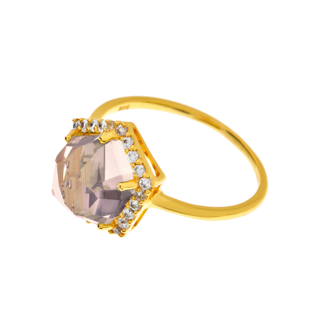 Ring Crystal, Gelbgold vergoldet