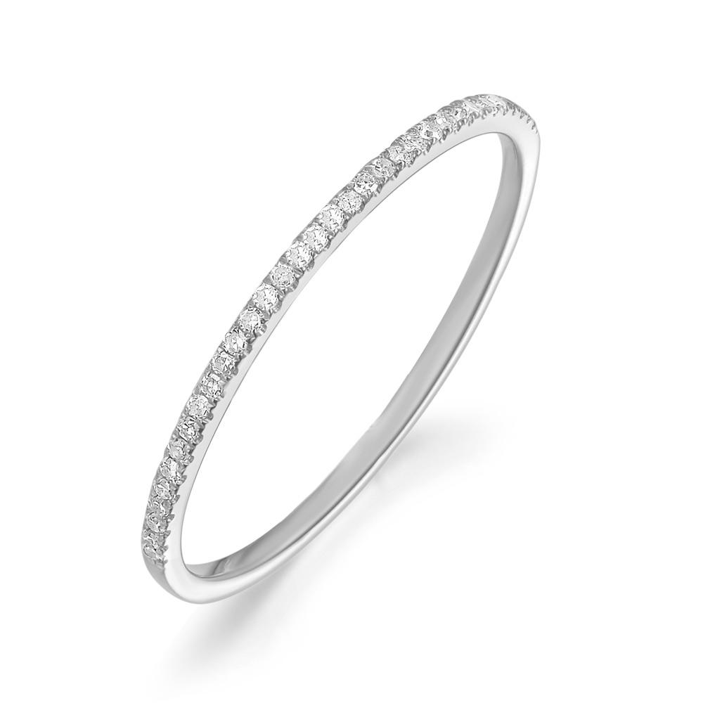 Weißgold ring  Ring Memory Half mit Diamanten, 18 K Weißgold - Leaf - Schmuck ...