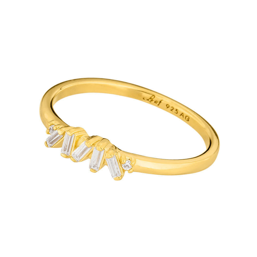 Ring SPARKLE, Flash, 18 K Gelbgold vergoldet