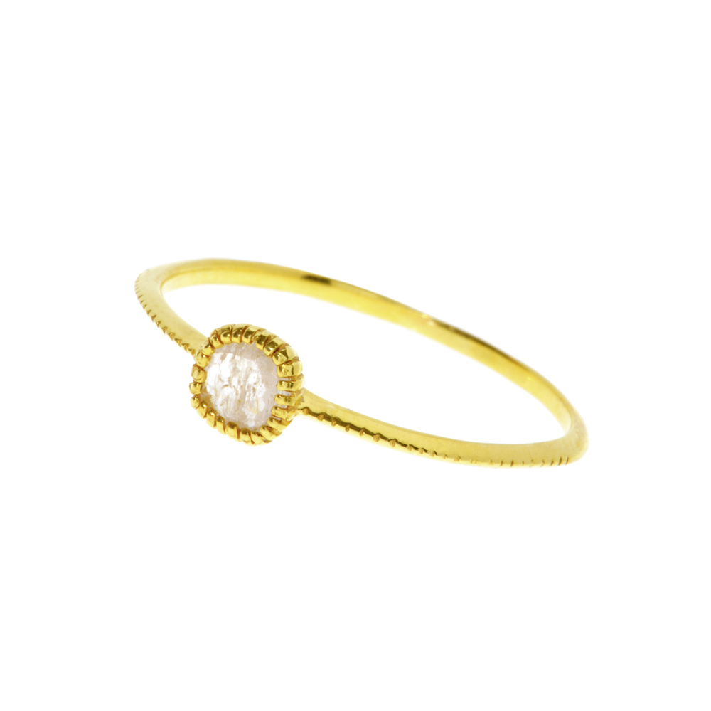 Ring Sapphir, 18K Yellow Goldplated