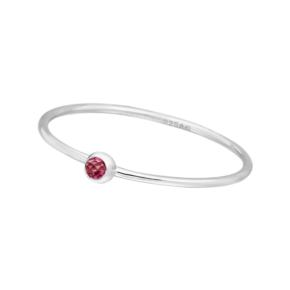 Ring Solitaire, Ruby, 925 Sterlingsilber
