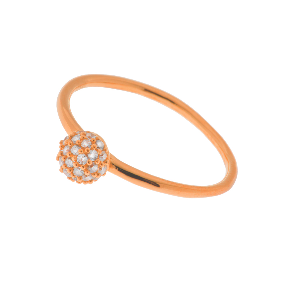 Ring Sphere, 18 K Roségold vergoldet