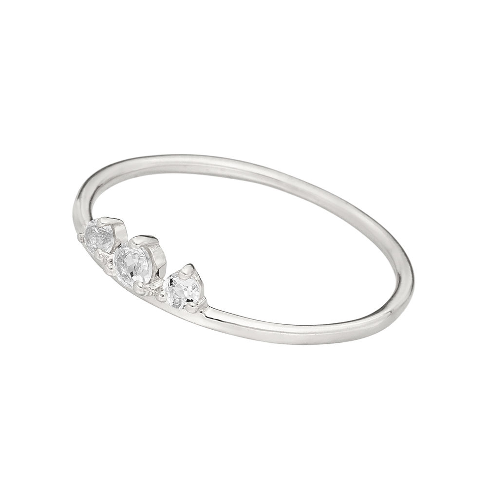 Ring Sweet Gems Bergkristall, 925 Sterlingsilber