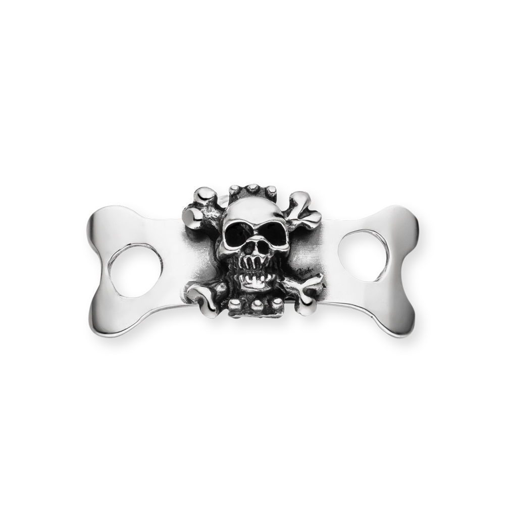 Shoe Jewelry, Skull I, 925 Sterlingsilber