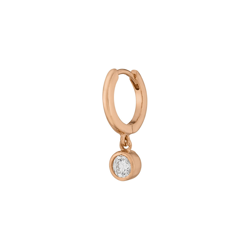Single Creole PURE, 18 K Rosegold vergoldet