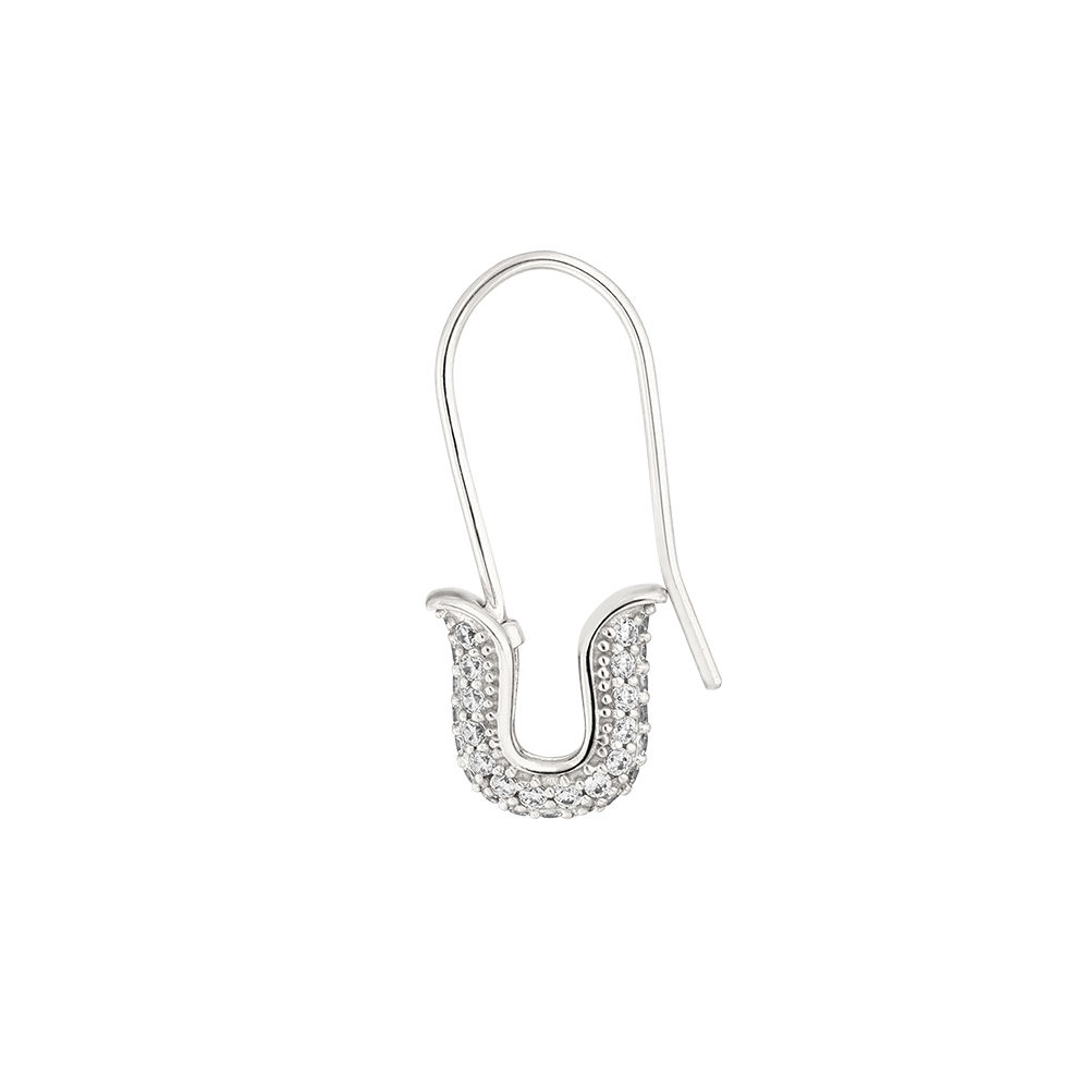 Single-Ohrhänger SAFETY PIN, 925 Sterlingsilber