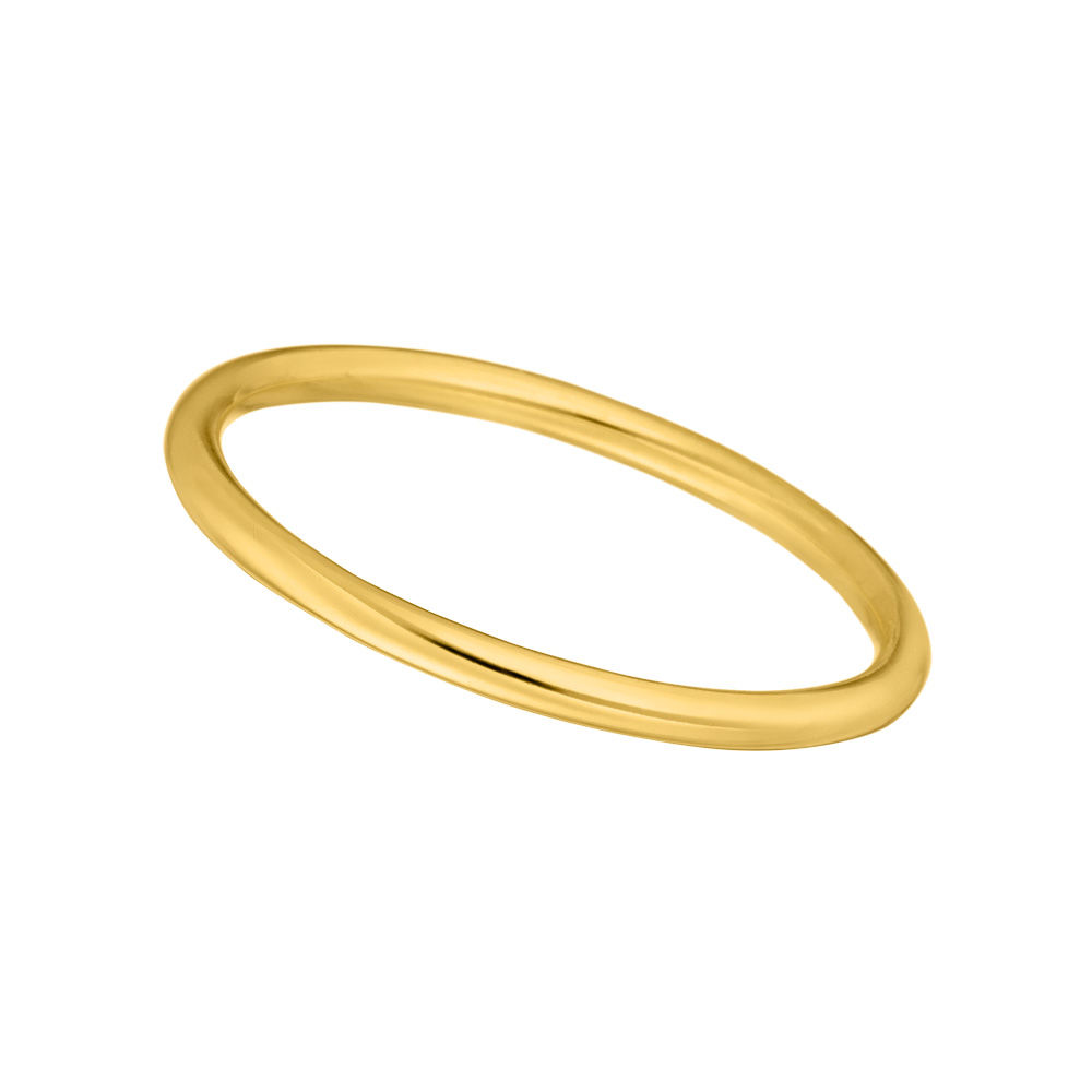 Stacking Ring Basic, 18 K Gelbgold vergoldet, Größe 50
