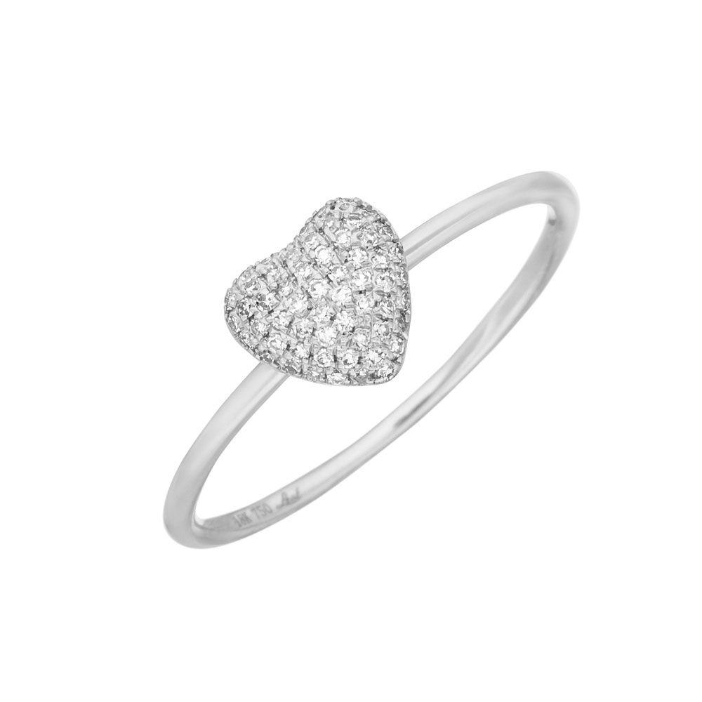 Verlobungsring Herz In Weissgold Mit Diamanten Leaf Jewelry