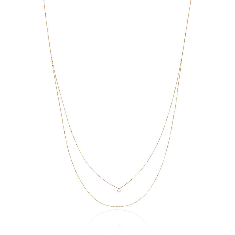 Halskette Pure Double Diamond,18K Gelbgold Bild 2