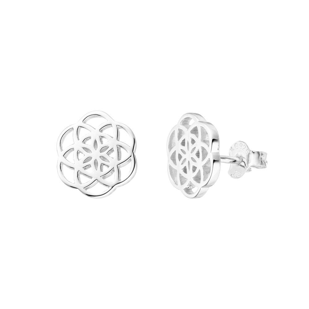 Ohrstecker Flower of Life, 925 Sterlingsilber Bild 2