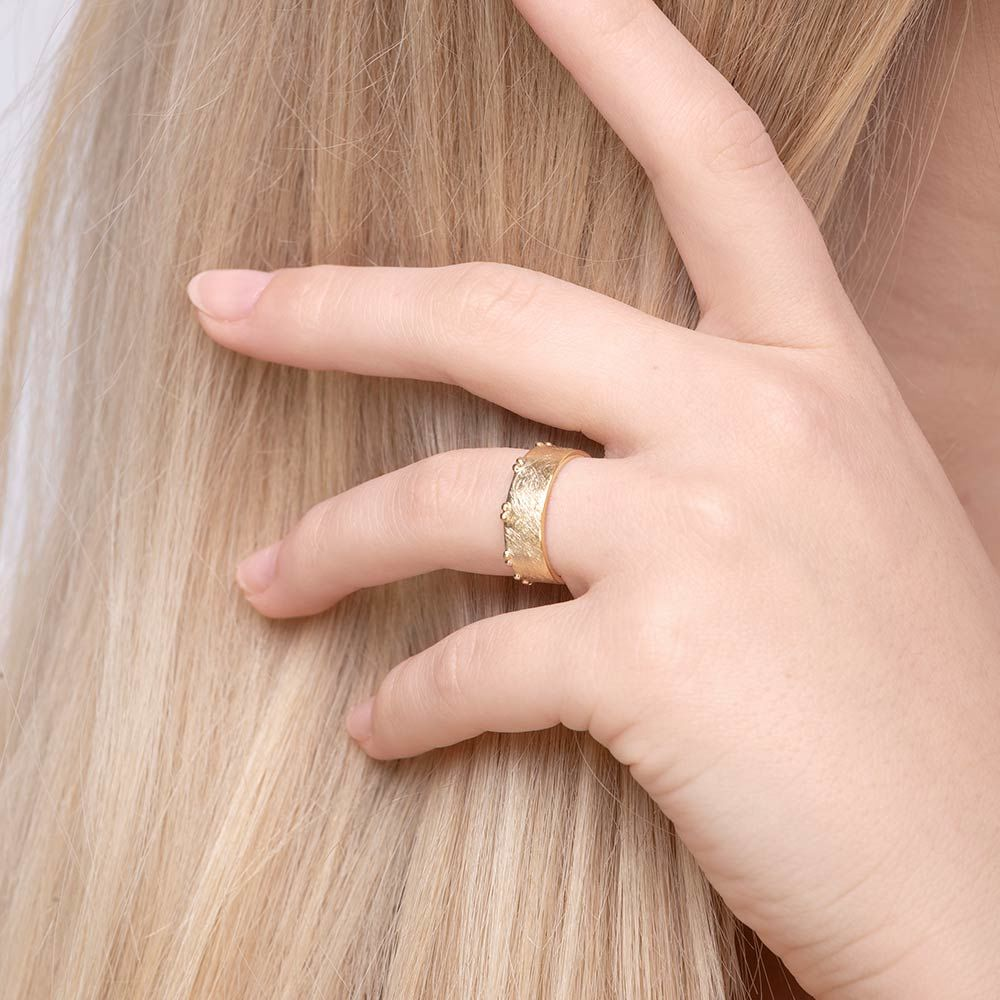 Ring Pure, matt, 18 K Gelbgold vergoldet Bild 3