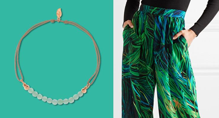 Arcadia Leaf Jewelry Schmuck Gruen Blau