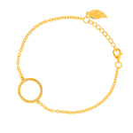 Armband Circle Of Life, 18 K Gelbgold vergoldet