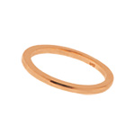 Basic Ring, 18 K Rosegold vergoldet
