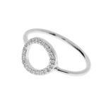 Circle Of Life Ring with Zirconia, 925 Sterling Silver, Size 56