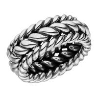 Herrenring TWISTED, 925 Sterlingsilber