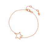 Leaf Armband, ONE STAR, 18 K Roségold vergoldet