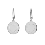 Ohrringe Disc Heart, 925 Sterlingsilber