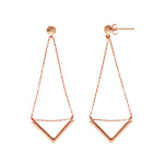 Ohrringe Triangle,18 K Rosegold vergoldet