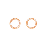 Ohrstecker Circle Of Life, 18 K Rosegold vergoldet