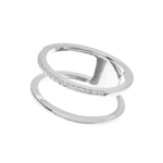 Ring Double Line, 925 Sterlingsilber
