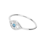 Ring Evil Eye mit Zirkonia, 925 Sterlingsilber