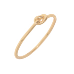 Ring Knoten, 18 K Rose vergoldet