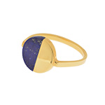Ring Lapis Circle, 18 K Gelbgold vergoldet