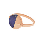 Ring Lapis Circle, 18 K Rosegold vergoldet