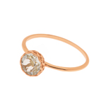 Ring Lotus, 18 Rosegold vergoldet
