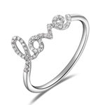 Ring Love 18K White Gold with Diamonds