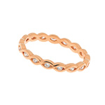 Twist Ring, 18 K Rosegold vergoldet